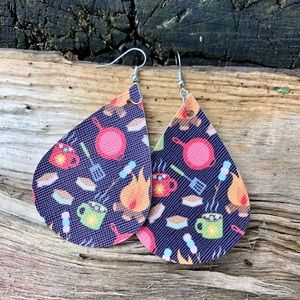 Handcrafted Faux Leather Earrings